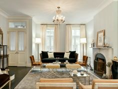 What To Do If You Have No Foyer Entry - laurel home | Billy Joel's townhouse designed by Nate Berkus
