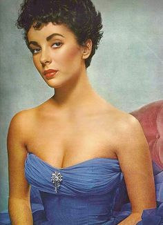 vintage everyday: Beautiful Color Photos of Elizabeth Taylor from the 1950s-60s