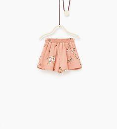 ZARA - KIDS - Floral Bermuda shorts