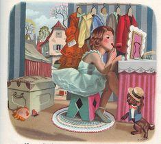 Marcel Marlier et Gilbert Delahaye Marcel, Images Vintage, Vintage Art, Kids Prints, Children's Book Illustration, Retro, Vintage Children, Dachshund, Childrens Books