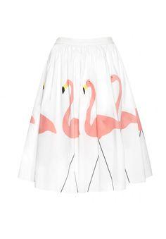 Alice + Olivia flamingo skirt