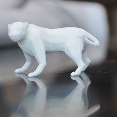 Low poly panther 3D #3D #3Dprint #3Dprinting [more pics on Cults website]