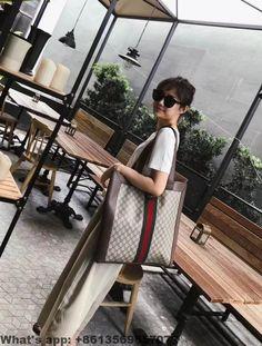 ba5496852201 Gucci Ophidia soft GG Supreme large tote 519335 2018 Gucci Handbags,  Signature Style, Large