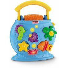 Fisher Price Ocean Wonders Tote A Tune Fishbowl by Fisher Price. $37.96. The Ocean Wonders Tote-A-Tune Fishbowl is loaded with fun activities and ocean sounds for baby. Spin the large roller and hear a fun tune or sound effect, with each activity, baby is rewarded with one of 5 sound effects, 5 ditties or 5 tunes. Spin the starfish or slide the turtle and get a fun sound. Move the fish and hear a click! The light up bubbles will amaze baby!