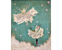 """""""Starlight Fairy Dance"""" is printed on archival poly/cotton canvas with archival pigment ink.  via Etsy."""