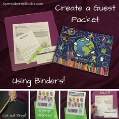 Create a Guest Packet for Usborne Books & More Home Shows!  These provide a hard surface for writing using 3-ring binders!