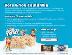 #RKTreatSweeps I voted for Rice Krispies Ice Cream Sandwiches with M&M's