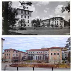 #Emory Medicine's Anatomy & Physiology Buildings in the 1920s and then today.
