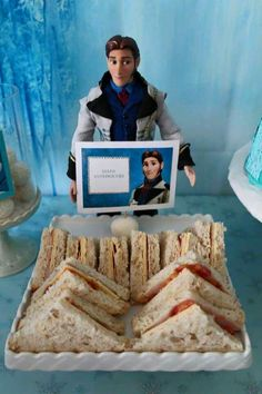 Frozen Birthday Party Set-up / Decorations (sandwiches)