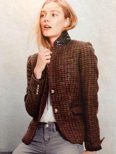 Beaded tweed blazer from jcrew