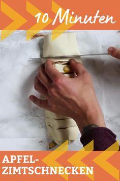 Die Apfel Zimtschnecken aus Blätterteig sind schnell, einfach und die perfekte Mischung aus dicken Apfelstücken und karamellisiertem Zimtzucker. Dieses 5-Zutaten Dessert ist in 10 Minuten vorbereitet und perfekt für Überraschungsbesuch. Backen war noch nie einfach. Kochkarussell - dein Foodblog für schnelle und einfache Feierabendrezepte
