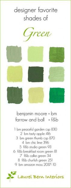 9 Fabulous Shades of Green Paint and One Common Mistake - laurel home - Fabulous green Benjamin Moore Paint colors Green Paint Colors, Best Paint Colors, Paint Colors For Home, House Colors, Green Front Doors, Painted Front Doors, House Paint Exterior, Exterior Paint Colors, Bedroom Green