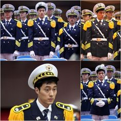 "So Ji-sub Looking Like a Stud in Uniform on Set for his new drama ""Ghost"""