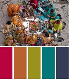Design Seeds ripoff color palette: India Potential color pallet for final painting series.