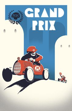Mario Kart /// by Curtis Tiegs, via Behance