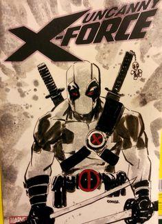 Deadpool SketchCover #comics #marvel #deadpool #wadewilson #uncannyxforce #xforce #xmen #uncannyxmen #weaponx #sketch #sketchcover #sketchamadoodle #joelgomez