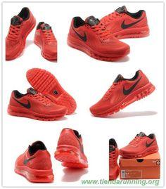competitive price c5b84 f0530 zapatillas de running Hombre-Mujeres Nike Air Max 2014 Rojo universitario  Negro 621077-666