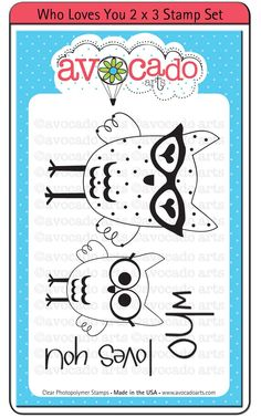 Who Loves You - 2x3 Stamp Set by MemoryMakinShoppe on Etsy