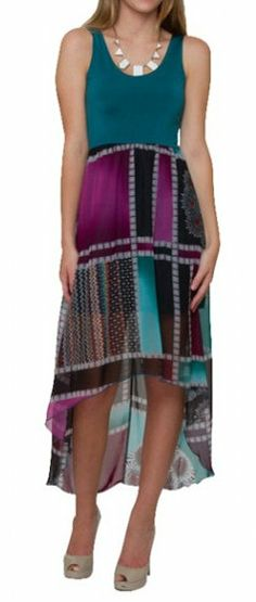 "love the ""mullet"" dress style in this, Chiffon High Low Summer Dress"
