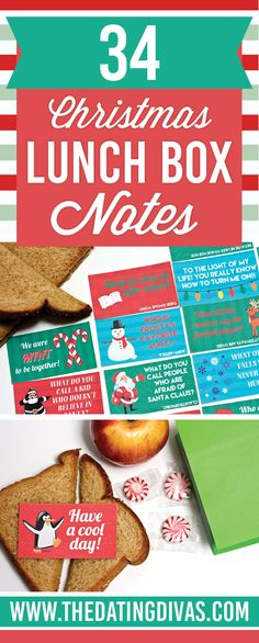 Christmas lunchbox notes for kids AND some sexy ones for your spouse too!!  lol. www.TheDatingDivas.com