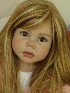 "~Gerlinde Feser Kit Elisa~Now ""Sofia Christina""~Le Ruban Rose Nursery Life Like Baby Dolls, Life Like Babies, Real Baby Dolls, Realistic Baby Dolls, Real Doll, Reborn Baby Girl, Reborn Toddler, Toddler Dolls, Reborn Babies"