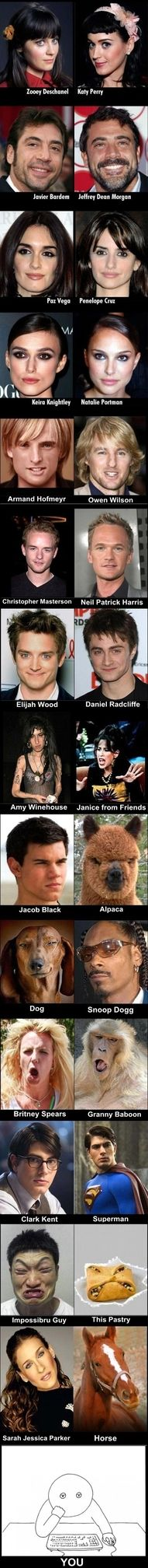 Funny pictures about Celebrities That Definitely Look Alike. Oh, and cool pics about Celebrities That Definitely Look Alike. Also, Celebrities That Definitely Look Alike photos. I Love To Laugh, Make Me Smile, Funny Pins, Funny Memes, Funny Stuff, Rage Comic, Celebrity Look Alike, Celebrity Twins, Funny Images