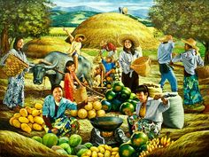 We Bring the Best in Philippine Art Bali Painting, Fruit Painting, Figure Painting, Farm Paintings, Great Paintings, Chinese Landscape Painting, Landscape Paintings, Christmas Photo Booth Props, Filipino Art