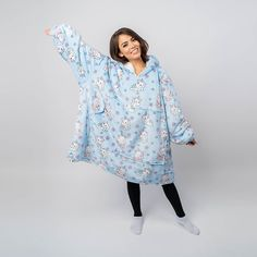 Girly Girl Outfits, Cute Lazy Outfits, Cool Outfits, Girls Fashion Clothes, Girl Fashion, Fashion Outfits, Girls Pjs, Wearable Blanket, Hooded Blanket