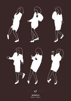 Seinfeld Elaine's Dance  http://flavorwire.com/255800/amusing-posters-of-famous-pop-culture-dances?all=1