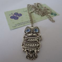 Owl vintage necklace