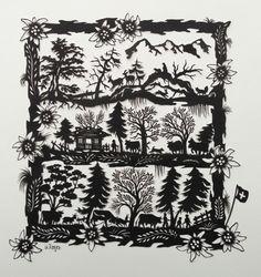 Newspaper Art, Silhouette Cameo Tutorials, Shadow Art, Silhouette Art, Kirigami, Paper Cutting, Cut Paper, Graphic Design Art, Botanical Prints