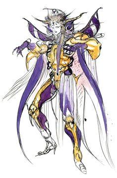 Final Fantasy II - Emperor Palamecia - Yoshitaka Amano