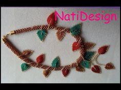 YouTube Handmade Bracelets, Handmade Jewelry, Necklace Tutorial, Bracelet Crafts, Jewelry Model, Beaded Ornaments, Leaf Necklace, Flower Tutorial, Beaded Jewelry
