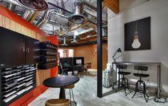 Industrial Meets Vintage in this Stunning Office Space by Interior Motives « Design Shuffle Blog http://www.designshuffle.com/blog/industrial-meets-vintage-in-this-stunning-office-space-by-interior-motives/