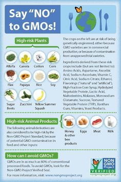 Get to know GMOs and how to avoid them. Read ingredients!