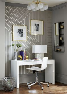DIY Linear Wallpaper | Idea Central - The CB2 Blog