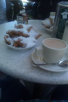 Cafe du Monde ~ New Orleans, Louisiana. If you haven't been here for these donuts yet you must go!