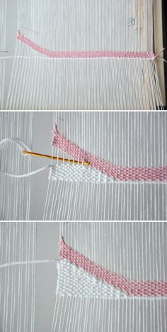 How to Weave Angles Waves The Weaving Loom Weaving Loom Diy, Pin Weaving, Weaving Art, Tapestry Weaving, Basket Weaving, Weaving Designs, Weaving Projects, Weaving Patterns, Stitch Patterns