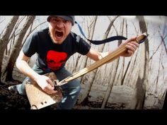 Rob Scallon Plays a Fully Functional One-Stringed Guitar Created From a Shovel