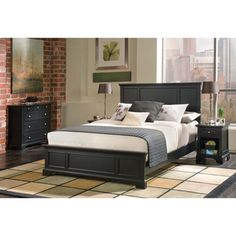 @Overstock - Sleep comfortably in high style with black, perfectly matching bedroom sets. Enjoy this set for years with the solid wood construction. All your things remain neatly in place with the chest drawers and night stand that come with the queen-size bed.http://www.overstock.com/Home-Garden/Home-Styles-Bedford-Queen-Bed-Night-Stand-and-Chest-Set/6620945/product.html?CID=214117 $829.99