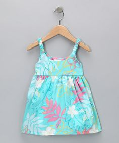 Take a look at this Aqua Leaf Babydoll Dress - Toddler by RJC Girls on #zulily today!