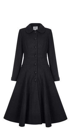 Vintage Mode - Lillian Textured Coat - Schwarz