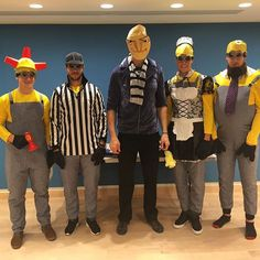Gru (aka Zdeno Chara) and his mischievous Minions (Torey Krug, David Krejci, Tuukka Rask and Jimmy Hayes) are up to some Despicable antics at their annual Halloween visit to @bostonchildrens!