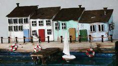 driftwood art, reclaimed wood, wood house, tiny house, sea, Richidriftwoodart, life ring, boardwalk, seaside, pier, beachhouse, Beach Decor by RichiDriftwoodArt on Etsy