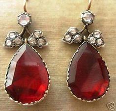 antique georgian diamond earring