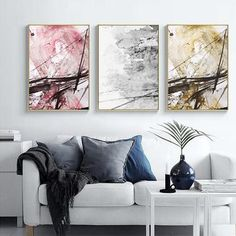 Modern Home Decor Interior Design Canvas Art Prints, Canvas Wall Art, Decor Interior Design, Interior Decorating, Wall Decor Pictures, Office Art, Picture Wall, Gallery Wall, Abstract Paintings
