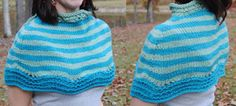 Knit Telfair Cape free pattern - would make a great Christmas gift for an elder! #FoPRR