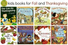 30 kids books for Fall and Thanksgiving