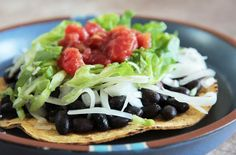Black Bean Tostadas and other great ideas for black beans @MJ's Kitchen