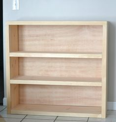 easy building plans - bookcase